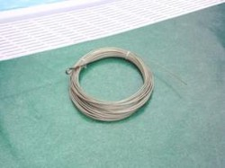 Rollo cable acero inoxidable para corcheras de 25 m